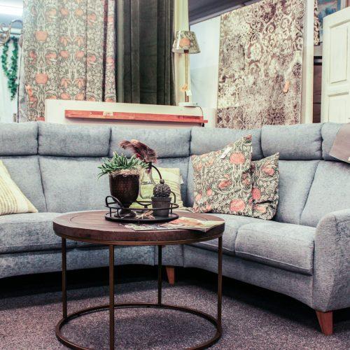 blågrå soffa