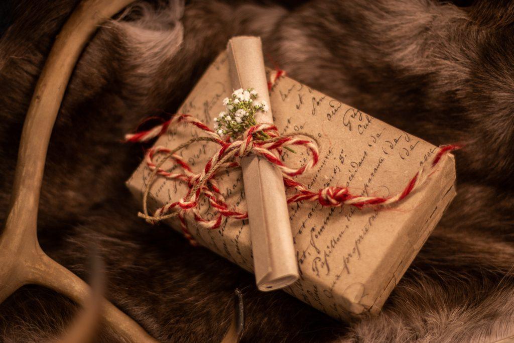paket renhorn presentkort tidlösa design